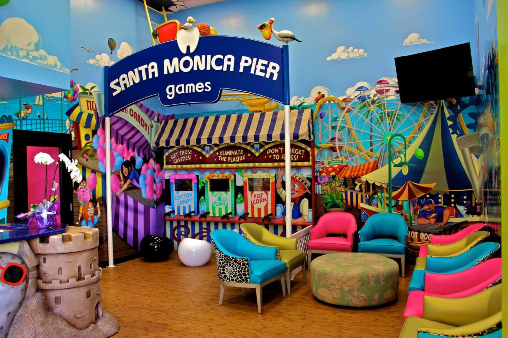 office tour of Smiling Seal Pediatric Dentistry santa monica pier